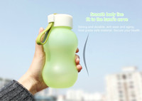 Wholesale mouth gourd resale online - Quality Calabash Gourd Shaped SOLO Space Water Bottle Colors ml BPA Free Wide Mouth Portable Plastic Drinking Water Bottle