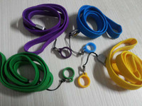 Wholesale Ego Necklace String Ring - E-Cigarette EGO STRING EGO ring Colorful ego necklace lanyard rope with ego Silicone ring ego bag for Evod ego ecig ego ce4 ce5