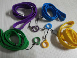 Wholesale Ego Lanyard Necklace String - E-Cigarette EGO STRING EGO ring Colorful ego necklace lanyard rope with ego Silicone ring ego bag for Evod ego ecig ego ce4 ce5