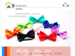Wholesale Use Tie - 15 kinds of mix colors of dog tie dog bow tie pet tie can be used as head of flowers