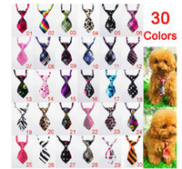 Wholesale 500pcs Fashion Polyester Silk Pet Dog Necktie Adjustable Handsome Bow Tie Necktie Grooming Supplies