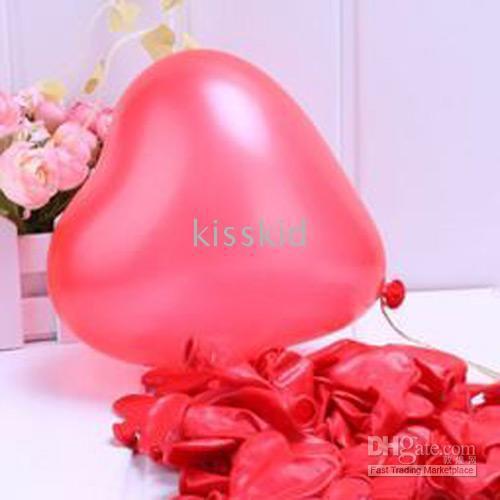 200 stks latex diverse rode hart ballon bruiloft gunst party decoraties nieuwe kleur roze / paars
