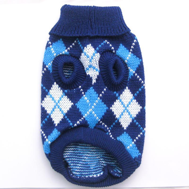 الشحن مجانا! بينك / أزرق أرجايل الكلب سترة الملابس الحيوانات الأليفة البلوز الملابس معاطف ، 5 أحجام / XS S M L XL5 الأحجام المتوفرة