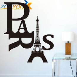Wholesale Paris Wall Decals - Paris removable DIY creative wall decals ZooYoo8186 removable vinyl wall stickers home decoration