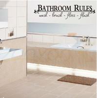 cotizaciones de pared de vinilo para baño. al por mayor-reglas de baño decoración del hogar cita creativa etiqueta de la pared zooyoo8044 decoración del hogar decoración etiqueta de la pared de vinilo removible