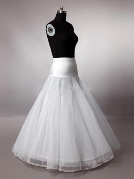 2019 in magazzino a buon mercato Bianco A-line sottoveste abiti da sposa 1 cerchio crinoline abiti da sposa accessori da sposa