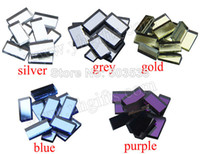Wholesale 250PCS Strip glass mirror mosaic color Handmade accessories Craft material Mosaic art Wall decals x2x0 cm