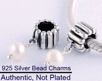 Bead Caps Fashion Beads 925 Sterling Silver Garnet Faceted Glass Charm Slide Beads Fit European Compatible
