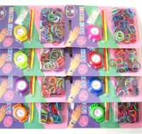 Wholesale Christmas Rainbow Loom Rubber Bands - Christmas Gift DIY Knitting Braided loom Watch colorful number Rainbow Kit Rubber Loom Bands Self-made Silicone Bracelet