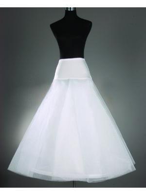 Envío Gratis Venta Caliente Más Barato Una Línea de Enaguas de La Boda Blanca Tamaño Libre Deslizamiento Desmonta Crinolina Blanco Para Vestidos de Novia