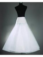 юбки для продажи оптовых-Бесплатная доставка горячая продажа дешевые A-Line белые свадебные юбки свободный размер свадебные скольжения нижняя юбка кринолин белый для свадебных платьев