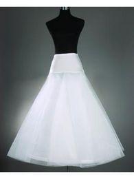 Canada Livraison Gratuite Vente Chaude Moins Cher A-ligne Blanc Jupon De Mariage Taille Libre Mariée Slip Jupon Crinoline Blanc Pour Robes De Mariée Offre