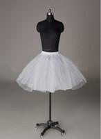 Wholesale lovely bridal for sale - Group buy New Arrival Lovely Hot Sale Bridal Short Petticoat In Stock White Wedding Dresses Flower Girls Crinoline High Quality