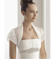 Wholesale Cheap Quality Jackets - 2014 High Quality Short Sleeve Organza Bridal Jackets for Wedding Cheap Ladies Jackets Bridal Accessories
