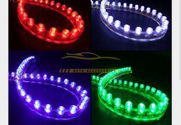 Auto grills online-InteriorExternal Lichter 10x Seite 24CM LED flexibles Auto-Grill-Streifen-Licht wasserdichtes freies Verschiffen-heißes neues gutes
