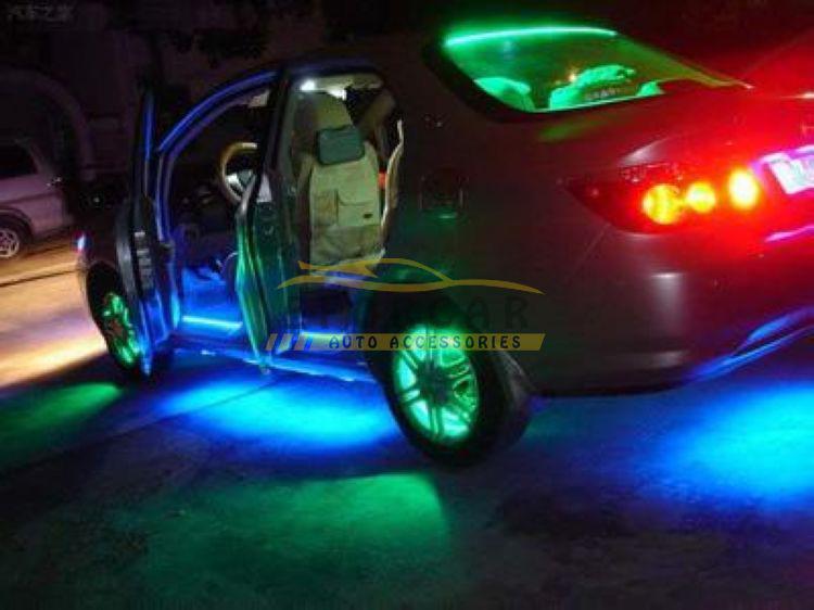 InteriorExternal luces 10x 24cm lateral de LED flexibles parrilla del coche luz de tira impermeable del envío de la nueva buena
