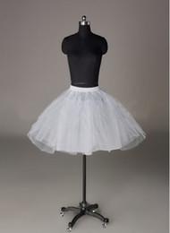 Wholesale White Petticoat Skirt Cheap - In Stock 2 Layer Short Ballet Skirt Crinoline Petticoats White Underskirt Slips Hoop Little Petticoat Cheap But High Quality Free Shipping