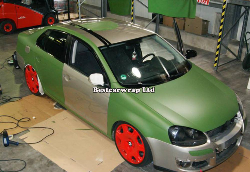 military green matte vinyl wrap with Air bubble Free matt army green car wrap stickers covering film foil size 1.52x30m/Roll 4.98x98ft