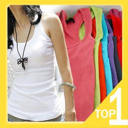 Wholesale Long Vest Tops Women - FREE SHIPPING 2014 NEW HOT SALE summer ladies fashion long coarse thread cotton tank top vest Y0136