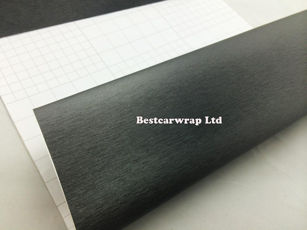 2018 premium grey metallic brushed steel vinyl film car wrap sticker gunmetal brushed aluminum film for vehicle sltying 1 52x30m roll from bestcarwrap