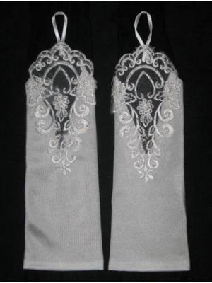 Billigaste Gratis frakt 2019 Ny stil Lace Fingerless Wedding Gloves Vit Elfenben i lager Hög kvalitet