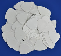 Wholesale Solid Guitar Picks - Lots of 100 pcs Medium 0.71mm guitar picks Plectrums Celluloid Solid White