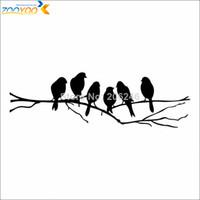 adesivos de aves decalques venda por atacado-Pássaro árvore criativo decalques de parede zooyoo8216 casa decoração sala de estar quarto removível DIY 3d arte adesivos de parede de vinil