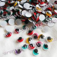 Wholesale Plastic Eyeballs Wholesale - 1000PCS LOT.1CM 5 color Colorful eyeball,Pastic eyelash wiggle eye,Doll eyes, Craft work, DIY crafts Kids diy Freeshipping OEM