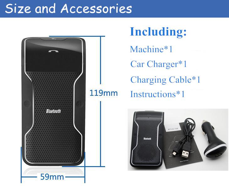 New Wireless Bluetooth Car Kit Hands free Speakerphone Speaker Phone Hands Free Car Bluetooth Hands free Kit Car Charger
