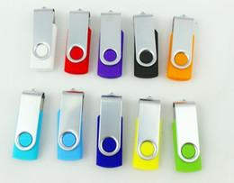 Wholesale Usb Mini Flash Drive - 100pcs lot Promotion pendrive 64GB popular mini gift USB Flash Drive rotational style memory stick YT with DHL Fedex