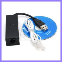 USB Fax Módem Ethernet 56K Acceso telefónico Voz, datos externos V.90, V.92 para Windows 98 SE / ME / 2000 / XP / 7