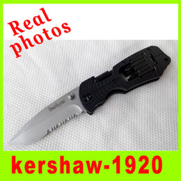 Wholesale Knife Photos - Real photo Kershaw 1920 EDC Folding knife Screwdriver 8Cr13Mov Blade Multi-function Camping Pocket Multi tool Kit Christmas gift 153H