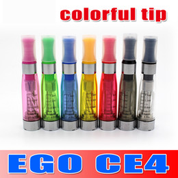 Wholesale Cheap Price Sale Ego - Hot Sale !!! Colourful Cartridge Cheap price eGo CE4 Atomizer for Electronic Cigarette E-cigarette Clear clearomizer goodwillbiz