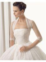 ingrosso disegni giacca bolero-2014 nuovo design mezza manica in pizzo tulle giacche da sposa per la sposa di alta qualità Giacche da sposa accessori da sposa