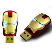 flash drives iron man al por mayor-64GB 128GB 256GB IRON MAN USB FLASH DRIVE SERIE 2.0 ALMACENAMIENTO IRON MAN MEMORY STICK DATA LED de memorygeek