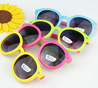 Wholesale Cute Frames - children's sports sunglasses Kids Childrens Boys Retro Style UV400 Cute Sunglasses Factory Price pet20 120pcs EMS free
