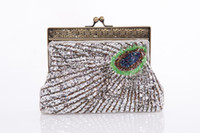 Wholesale Sequin Wedding Clutch - 2015 Fabulous Satin with Sequins and Crystals Chain Evening Handbag Clutches L22cm *W5cm *H14cm in Purple Silver Coffee Black Blue Handbag