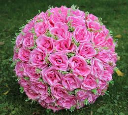 materiais de grinalda por atacado Desconto Lastest nova moda 40 cm (15.7 polegadas) Simulação Romântica Rose beijando bola de seda artificial flor para decoração de festa de casamento