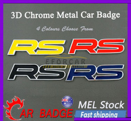 "Wholesale rs racing - 10X New Automotive Car Truck Metal ""RS"" Emblems Badges Sticker decal LC355 For Race Sport Free Shipping"