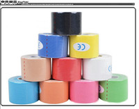 Wholesale Sports Tap - 2015 Kinesiology Sports Therapy Tape 5cmx5m Kinesio Tape Water Resistant Elastic Therapeutic Tape Muscle Therapeutic Kinesio Tap Great Price