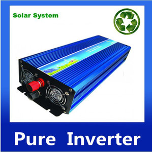Wholesale free ac dc inverter for sale - Group buy DHL FedEx UPS continue power w peak w dc ac inverter pure sine wave for solar wind generator home use