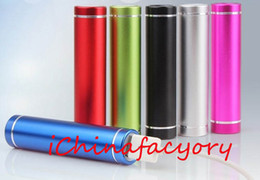 Wholesale Iphone Cheap Battery - Cheap powerbank 2600mAh Portable Cylinder USB Power Bank External Backup Battery Charger Power Pack for Samsung iPhone Travel Banks Chargers