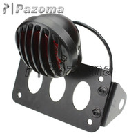 PAZOMA MOTORCYCLE Noir Side Mount License Tail Light Plate Bracket Chopper Cafe Racer Bobber XS650 sportster 3/4