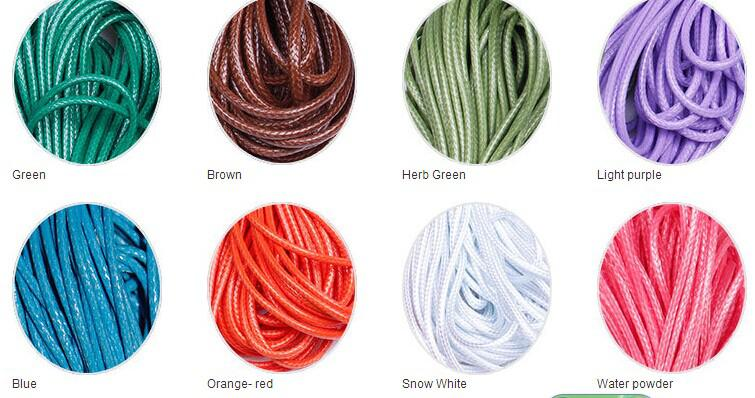 1mm 200yards 24 Farben hohe Qualität wächst Baumwollschnur für Wachs-Schmucksachen, die DIY Bead Schnur-Armband Nähen Lederhals