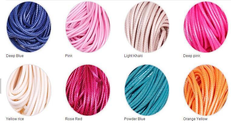 1mm 200yards es de alta calidad algodón encerado cordones para Cera fabricación de la joyería Collar de cuero DIY bolas de cuerda pulsera de costura