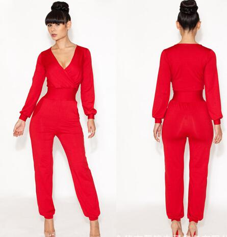 2017 Long Sleeve Woman Jumpsuit Sexy Womens Coveralls Pants ...