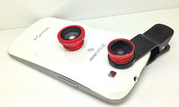 Wholesale S4 Eyes - 2014 Newest Universal 3in1 Clip-On Fish Eye Lens+ Wide Angle + Macro Lens For iPhone 4 5 Samsung Galaxy S4 S5 HTC IPAD TABLET PC LAPTOP