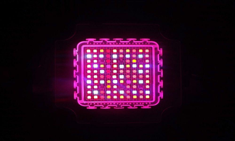 Venta caliente COB tech 100w 7band multichip grow light led Chip para cubrir la siembra / crecimiento / floración