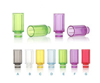 Wholesale Tube For Vivi Nova - Rich Colors Plastic Wide Bore Drip Tips Tube Drip Tip 510 EGO Atomizer Mouthpieces for CE4 EE2 Vivi Nova DCT Evod EGO T EGO VV E Cigarettes