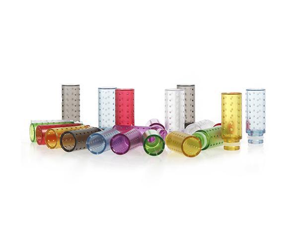 Colorful Plastic 510 Drip Tips Wide Bore Drip Tip 510 EGO Atomizer Clear Mouthpieces for CE4 Vivi Nova DCT Evod EGO T EGO Twist E Cigarettes